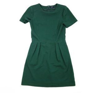 Madewell Green Dress Ribbed SZ 4 Pockets Casual